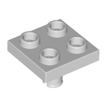 LEGO 4211763 PLATE 2X2 INVERTED W. SNAP - MEDIUM STONE GREY