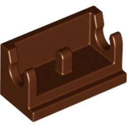 LEGO 6186045 ROCKER BEARING 1X2 - REDDH BROWN