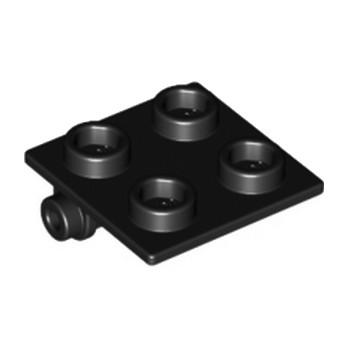 LEGO 613426 PLATE 2X2 (ROCKING) - NOIR