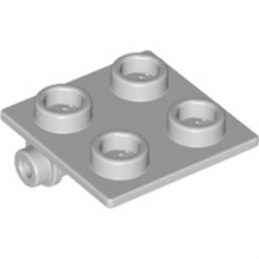 LEGO 4211881 PLATE 2X2 (ROCKING) - MEDIUM STONE GREY