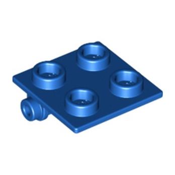 LEGO 613423 PLATE 2X2 (ROCKING) - BLEU