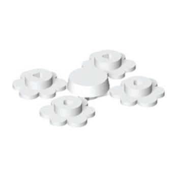 LEGO 4186952 FLEUR X4 - BLANC