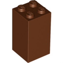 LEGO 6173948 BRIQUE 2X2X3 - REDDISH BROWN