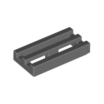 LEGO 4210631 RADIATOR GRILLE 1X2 - DARK STONE GREY