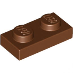LEGO 4211150  PLATE 1X2 - REDDISH BROWN lego-4211150-plate-1x2-reddish-brown ici :