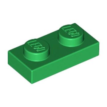 LEGO 302328 PLATE 1X2 - DARK GREEN