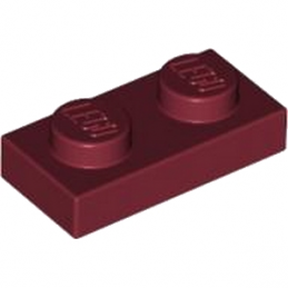 LEGO 4162582 PLATE 1X2 - NEW DARK RED