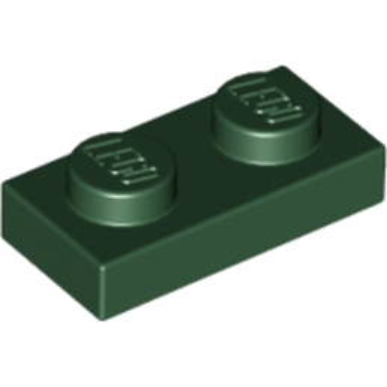 LEGO 4264404 PLATE 1X2 - EARTH GREEN