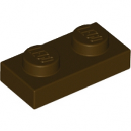LEGO 6058221 PLATE 1X2 - DARK BROWN
