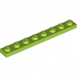 LEGO 4210212 PLATE 1X8 - BRIGHT YELLOWIH GREEN