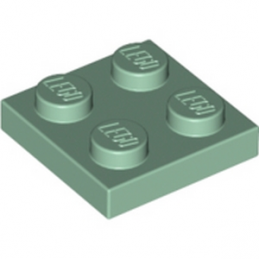 LEGO 6186823 PLATE 2X2 - SAND GREEN