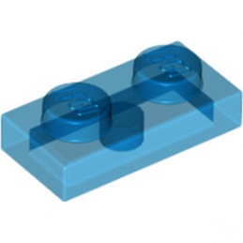 LEGO 4101694 PLATE 1X2 - BLEU FONCE TRANSPARENT