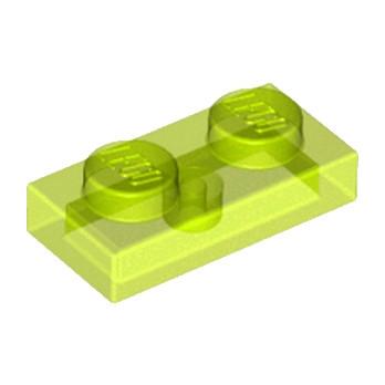 LEGO 6102038 PLATE 1X2 - JAUNE FLUO TRANSPARENT