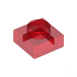 LEGO 302441  PLATE 1X1 - ROUGE TRANSPARENT