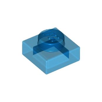 LEGO 4101693 PLATE 1X1 - BLEU FONCE TRANSPARENT