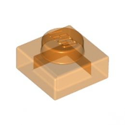 LEGO 4542673 PLATE 1X1 - ORANGE TRANSPARENT