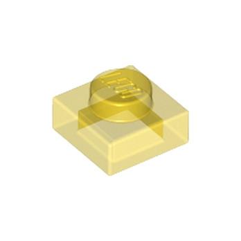 LEGO 3000844 PLATE 1X1 - JAUNE TRANSPARENT