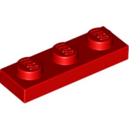 LEGO 362321 PLATE 1X3 - ROUGE lego-362321-plate-1x3-rouge ici :