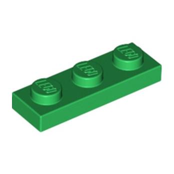 LEGO 362328 PLATE 1X3 - DARK GREEN