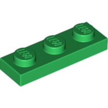 LEGO 362328 PLATE 1X3 - DARK GREEN lego-4107758-plate-1x3-dark-green ici :