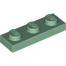 LEGO 4155207 PLATE 1X3 - SAND GREEN