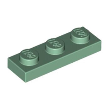 LEGO 4155207 PLATE 1X3 - SAND GREEN lego-6069257-plate-1x3-sand-green ici :