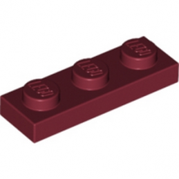 LEGO 4164223 PLATE 1X3 - NEW DARK RED lego-4539076-plate-1x3-new-dark-red ici :