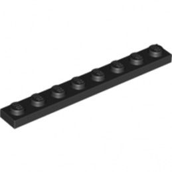LEGO 346026 PLATE 1X8 - BLACK