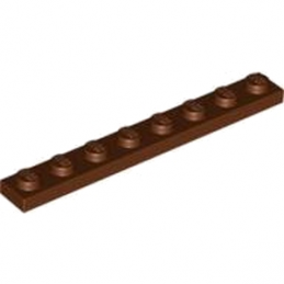 LEGO 4216945  PLATE 1X8 - REDDISH BROWN