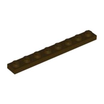 LEGO 4519946  PLATE 1X8 - DARK BROWN
