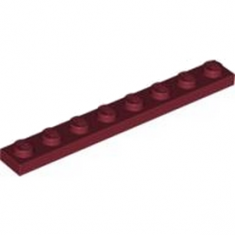 LEGO 4162205 PLATE 1X8 - NEW DARK RED