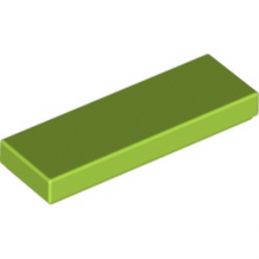 LEGO 6185307 PLATE LISSE 1X3 - BRIGHT YELLOWIH GREEN