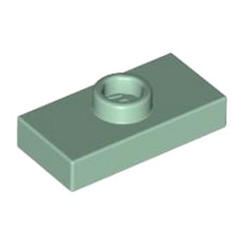 LEGO 4155069 PLATE 1X2 W. 1 KNOB - SAND GREEN lego-6184432-plate-1x2-w-1-knob-sand-green ici :