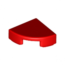 LEGO 6170390 PLATE LISSE ROND1/4 ROND 1X1 - ROUGE