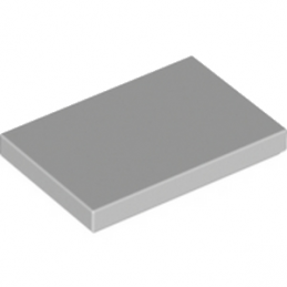 LEGO 6171894 PLATE LISSE 2X3 - MEDIUM STONE GREY