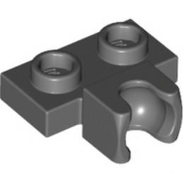 LEGO 6146792 PLATE 1X2 BALL CUP / FRICTION MIDDLE - DARK STONE GREY