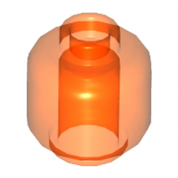 LEGO 6039180 TETE UNI - ORANGE FLUO TRANSPARENT