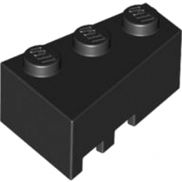 LEGO 4526931 RIGHT ROOF TILE 2X3 - BLACK