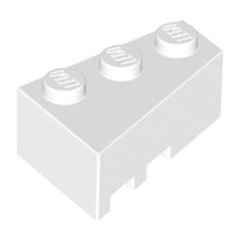 LEGO 4526928 BRIQUE 1 ANGLE COUPE DROITE  2X3 - BLANC