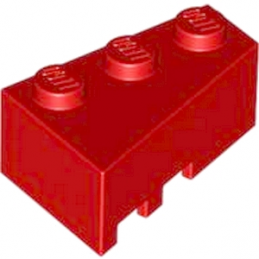LEGO 6256585 RIGHT ROOF TILE 2X3 - RED