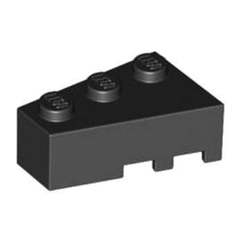 LEGO 4527766 BRIQUE 1 ANGLE COUPE GAUCHE  2X3 - NOIR