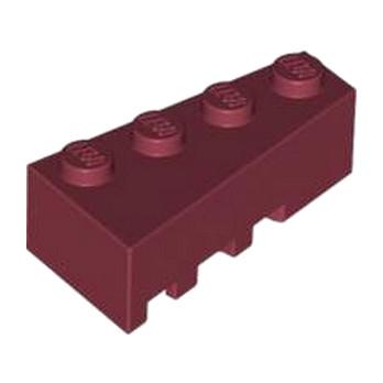 LEGO 4539066 BRIQUE 1 ANGLE COUPE DROITE  2X4 - NEW DARK RED