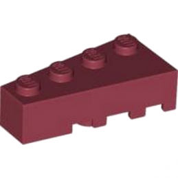 LEGO 4236819 BRIQUE 1 ANGLE COUPE GAUCHE 2X4 - NEW DARK RED