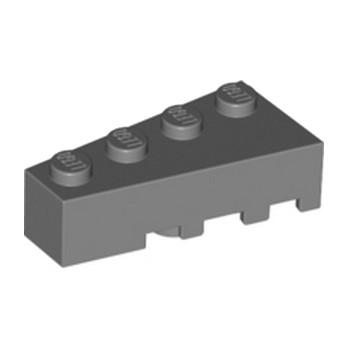LEGO 4287973 BRIQUE 1 ANGLE COUPE GAUCHE  2X4 - DARK STONE GREY