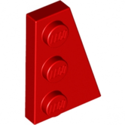LEGO 4180504 PLATE 2X3 ANGLE DROIT - ROUGE