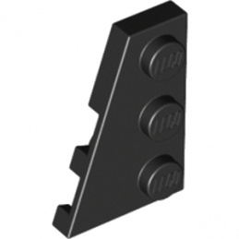 LEGO 4180536 PLATE 2X3 ANGLE GAUCHE - NOIR
