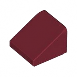 LEGO 4258310 TUILE 1X1X2/3 - NEW DARK RED lego-4531415-tuile-1x1x23-new-dark-red ici :