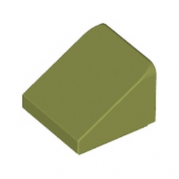 LEGO 6002841 TUILE 1X1X2/3 - OLIVE GREEN