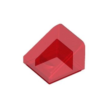 LEGO 4244363  TUILE 1X1X2/3 - ROUGE TRANSPARENT