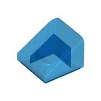 LEGO 4244366  TUILE 1X1X2/3 - BLEU FONCE TRANSPARENT